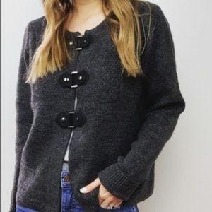Cynthia Rowley Gray Cardigan Sweater Size Medium